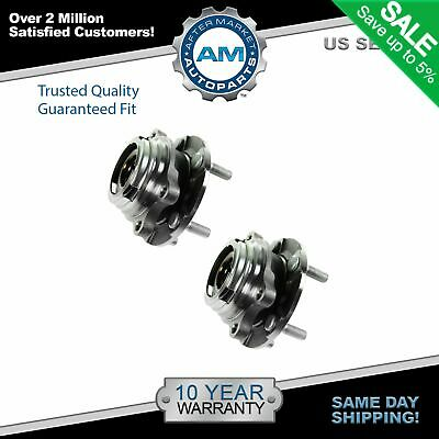 TRQ Wheel Hub & Bearing Front Left & Right Pair Set for 07-11 Altima w/ ABS 2.5L