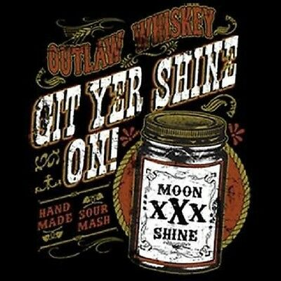 Get Yer Shine On Outlaw Whiskey Your Moon Shine South Bootleg Jack Men/'s T-Shirt