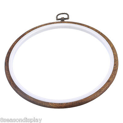 1PC Natural Detachable Embroidery Cross Stitch Frame Hoop Graining 15cm