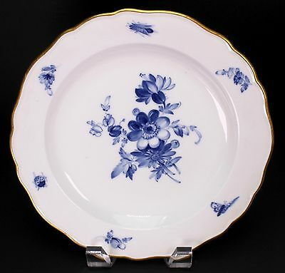 "Meissen Blue White Floral Porcelain 8 1/2"" Wide Salad or Dessert Plate - B"