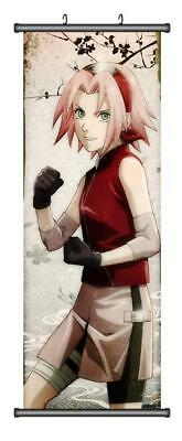Japanese Anime Naruto Haruno Sakura  Home Decor Poster Wall Scroll 45*125CM H06