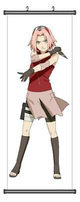 Japanese Anime Naruto Haruno Sakura  Home Decor Poster Wall Scroll 45*125CM H08