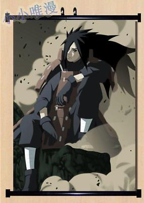 Japanese Anime Naruto Uchiha Madara Home Decor Poster Wall Scroll 60*90CM H45