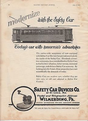 1927 Safety Car Devices Co St Louis MO Ad: Modernize with the Safety Car