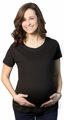 Maternity Shirt Blank Pregnancy Soft Short Sleeve Cotton Fitted T shirt