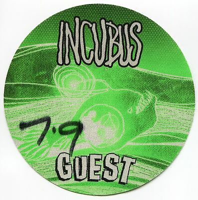 INCUBUS 2000's Concert Tour Backstage Pass!! Authentic stage Original