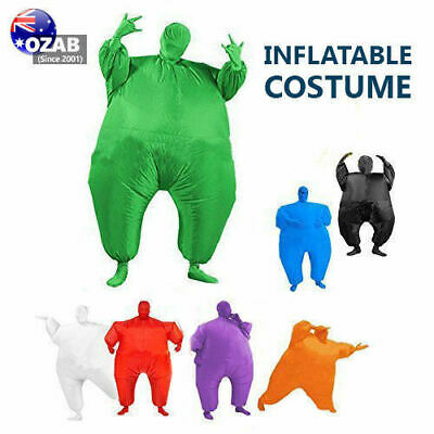 Inflatable Fancy Chub Fat Masked Suit Dress - Blow Up Halloween Party Costume