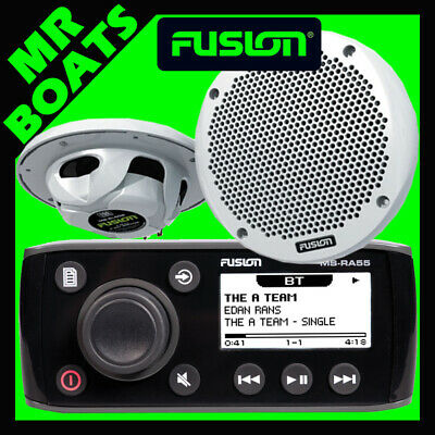 Fusion Ra55 Marine Stereo + 2 Speakers + Bluetooth Radio Ms-Ra55Ktsa Free Post