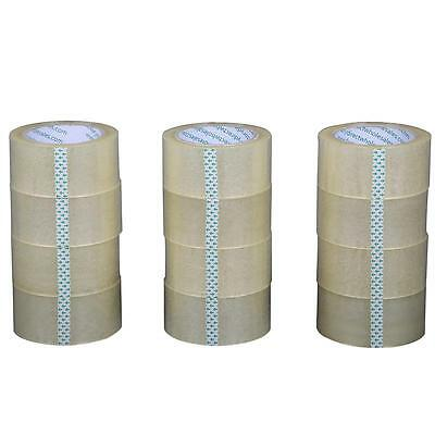 "12 Rolls Box Carton Sealing Packing Packaging Tape 2""x110 Yards(330' ft) Clear"