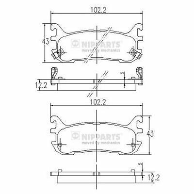 To Clear - New Oe Quality Nipparts - Rear - Brake Pads Set - J3613012