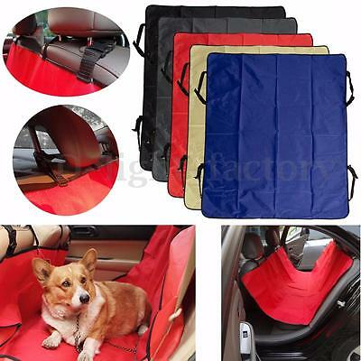 Car Pet Seat Rear Back Seat Cover Protector Mat Liner Adjustable For Dog Cat