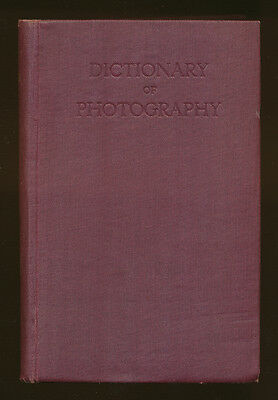 "E.J.Wall libro ""Dictionary of Photography "" 1943 in inglese D769"