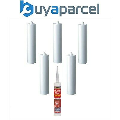 Everbuild Crystal Clear Sealant C3 Size Cartridge Pack of 6