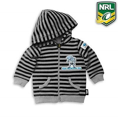 New Nrl Sharks Football Baby Hoodie Jumper Jacket Top Size 0 Fit 6-12 Month Old