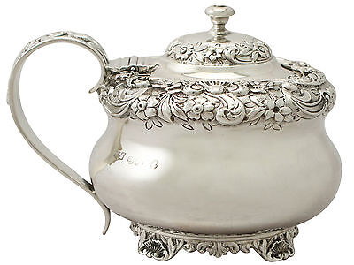 Antique George IV Sterling Silver Mustard Pot by William Bateman II