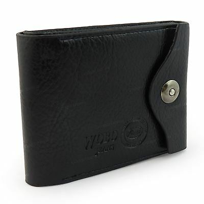 Mens Luxury Soft Quality Leather Wallet Credit Card Holder Purse Black NEW UK