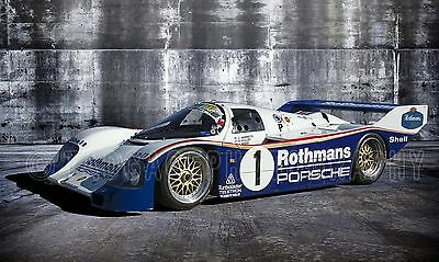 1986 Porsche 962 Group C Vintage Classic Race Car Photo CA-1061