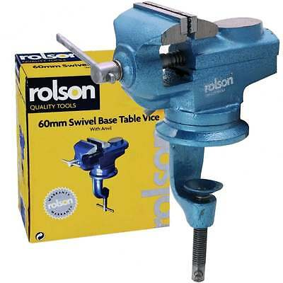 Rolson 360 Swivel Base Rotate 60mm Jaw Table Vice inc Anvil & Work bench Clamp