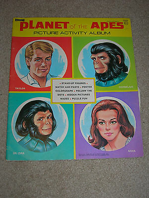 Vintage 1974 Artcraft Planet of the Apes Picture Activity Album Coloring Book