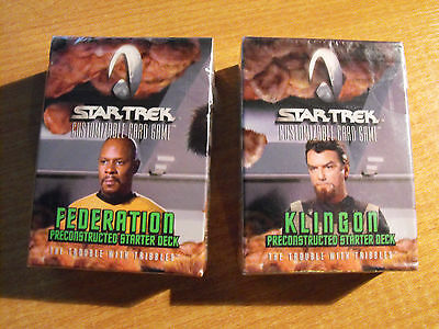 Star Trek Ccg Trouble With Tribbles Federation und Klingon Starters