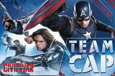 CAPTAIN AMERICA CIVIL WAR POSTER TEAM CAP Shrink Wrapped, size 22x34