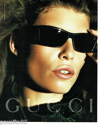 4b4b61fee3cdd PUBLICITE ADVERTISING 056 2003 Gucci lunettes solaires - EUR 3