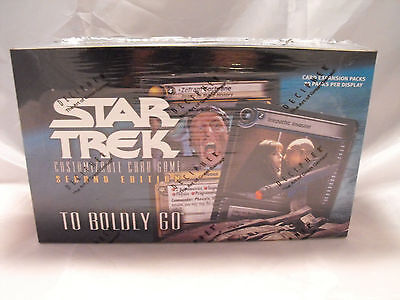 Star Trek Ccg 2E To Boldly Go Complete Sealed Box Of 30 Packs