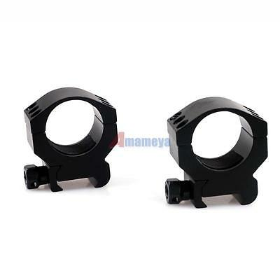 1 Pair Tactical 30mm Low Profile Scope Mount Ring fit 20mm Weaver Picatinny Rail