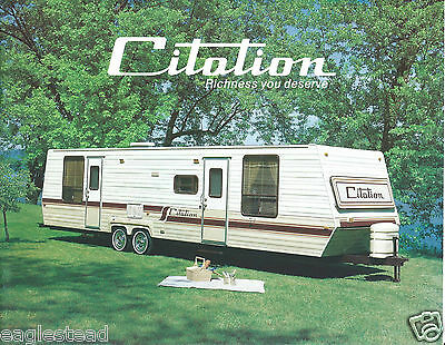 Travel Trailer Brochure - Citation - Product Line Overview - c1970's (MH08)