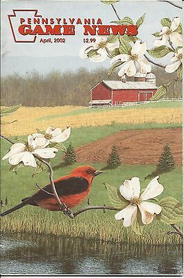 Pennsylvania Game News April 2002 cover by Ken Hunter scarlet tanager