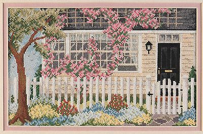 Summer Colors cottage garden cross stitch pattern book - 1992