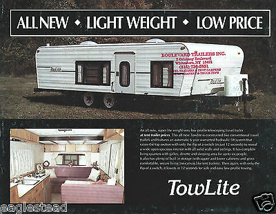 Travel Trailer Brochure - TowLite Product Line Overview - 1992 (MH19)