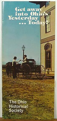 1970's Ohio Historical Society travel information brochure with maps b