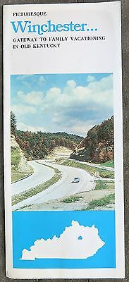 1970's Winchester Kentucky brochure Natural Bridge Red River Gorge b
