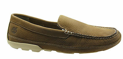 Timberland Heritage Driver Venetian Brown Leather Mens Loafers Shoes A16TR B2D
