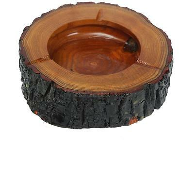 9-10cm Round Wooden Wood Cigarette Smoking Ashtray Ash Tray Bin Cafe Table