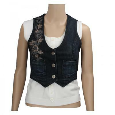 gilet donna SCERVINO STREET 42 denim jeans AS316