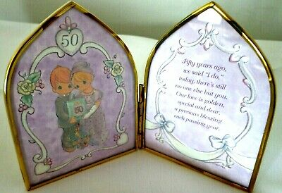 Enesco Happy 50th Anniversary PRECIOUS MOMENTS 1997 Beautiful Frame NEW