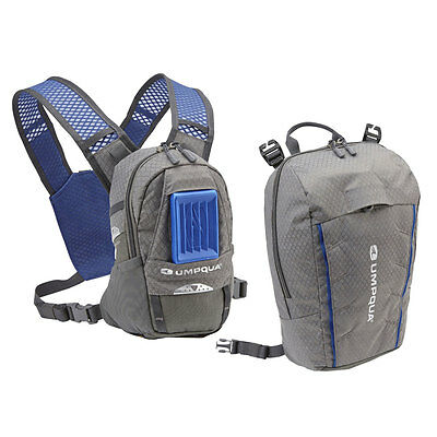 New 2016 Umpqua Rock Creek Kit Zero Sweep Fly Fishing Chest Pack In Granite