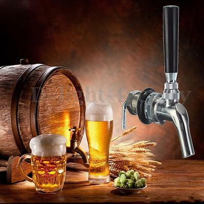 Draft Beer Faucet Flow Controller Stainless Steel Shank Tap Elbow Sealing