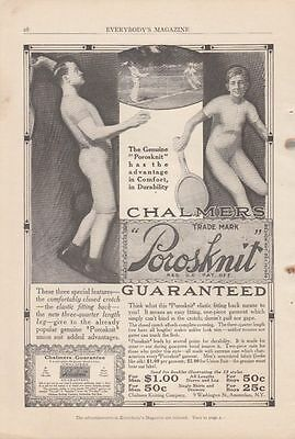 1913 Chalmers Knitting Co Amsterdam NY Ad: Porosknit Underwear Tennis Players