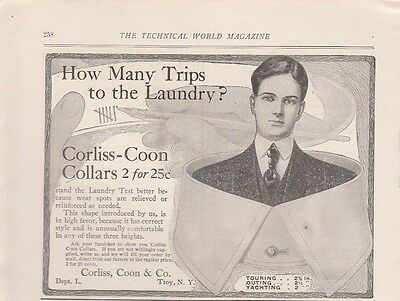 1906 Corliss Coon & Co Troy NY Ad: Corliss Coon Collar Correct Style & Comfort