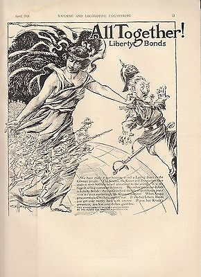 1919 Safety Car Heating Lighting WWI Ad: Liberty Bonds US Soldiers Chase German