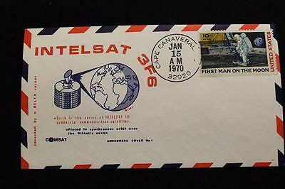 Space Cover 1970 Hand Cancel Intelsat-3 F6 Launch Andromeda #1 Autographed (1075