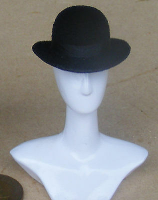 1:12 Scale Black Bowler Hat Dolls House Miniature Clothing Accessory