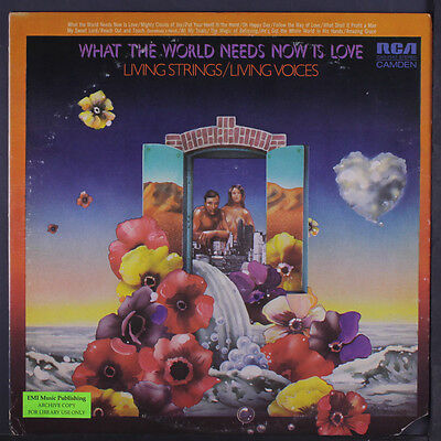 LIVING STRINGS / LIVING VOICES: What The World Needs Now Is Love LP (cut corner