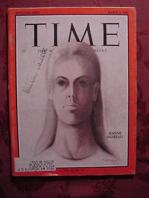 TIME March 5 1965 3/5/65 JEANNE MOREAU RUFINO TAMAYO ++