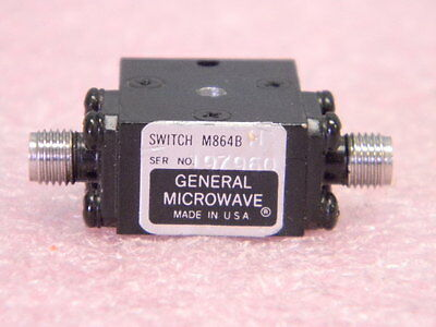 General Microwave M864BH Ultra Broadband RF Switch SMA 0.5-18GHz SPST 10ns