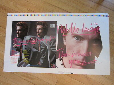 PUBLIC IMAGE This is What you Want 1984 Printer's proof 17x29