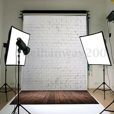5x7ft Brown Wooden Brick Wall Photography Background Backdrop For Studio Photo